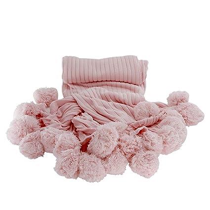 MYLUNE HOME 100% Algodón Manta de Punto Cobertura en sofá y Cama para Ropa de Cama y Siesta 150x200cm