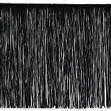 Expo International Chainette Fringe Trim, 20 yd/10'', Black