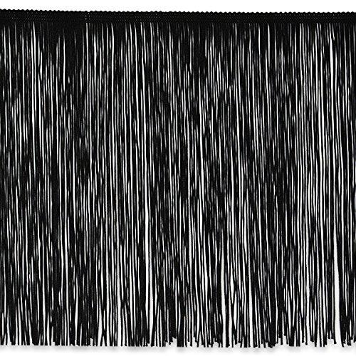 Expo International Chainette Fringe Trim, 20 yd/10'', Black by Expo International Inc.