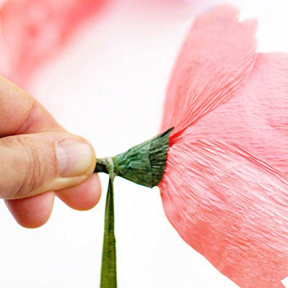 cinta de tallo para envolver ramo de boda y manualidades 2 rollos de 30 yardas florister/ía Cinta floral verde