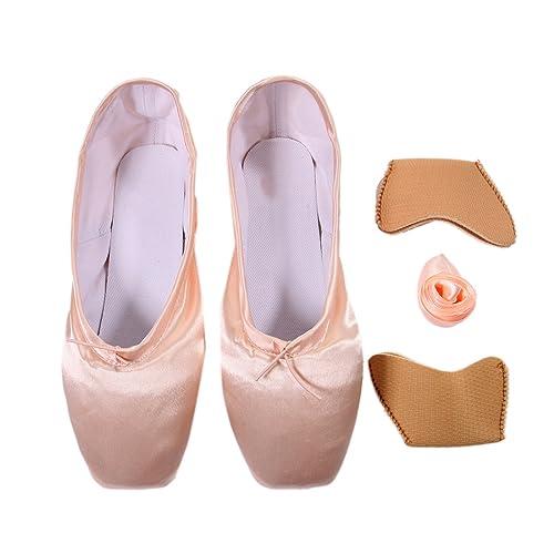 Pads Elastic Danza Y Covert De Zapatillas Cintas Ballet Zapatos Transpirable Con Baile Dogeek Toe Pointe lKcTJF13