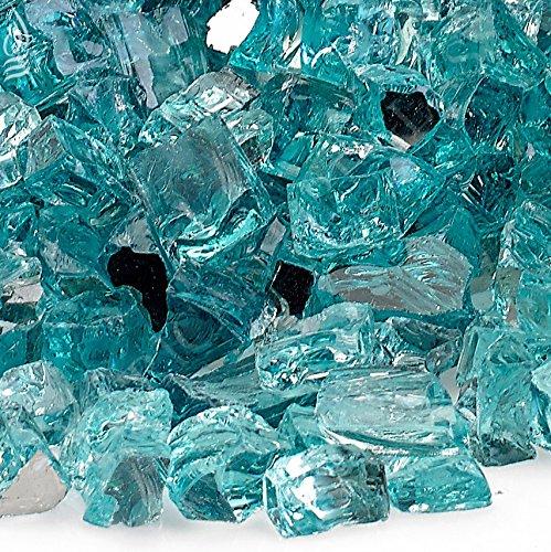 TK Classics Azuria Blue 1/2' Reflective Fireglass - 10 lb Bag