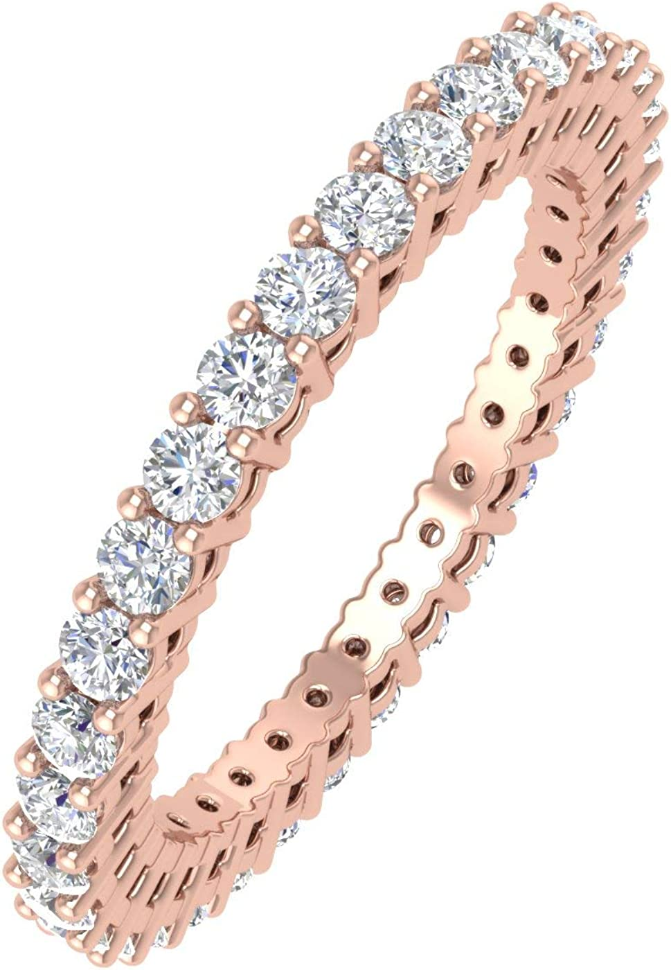 1 Carat Diamond Eternity Wedding Band in 14K Gold