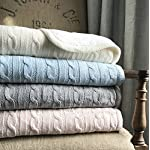 effe-bebe-Magnolia-Cable-Knit-and-Sherpa-Baby-Blanket-30×40-French-Blue