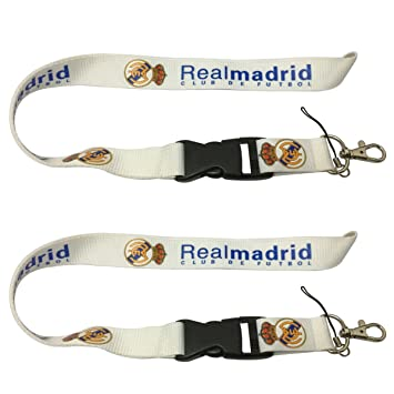 New 2pcs Blanco Real Madrid Lanyard equipo de entrenamiento ...