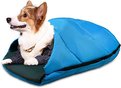 GEERTOP Dog Sleeping Bag Durable Packable Pet Sleeping Bed Comfortable Washable, Portable Pet Bed for Cats and Small Dogs – Dog Bed for Camping Hiking Cottage Beach