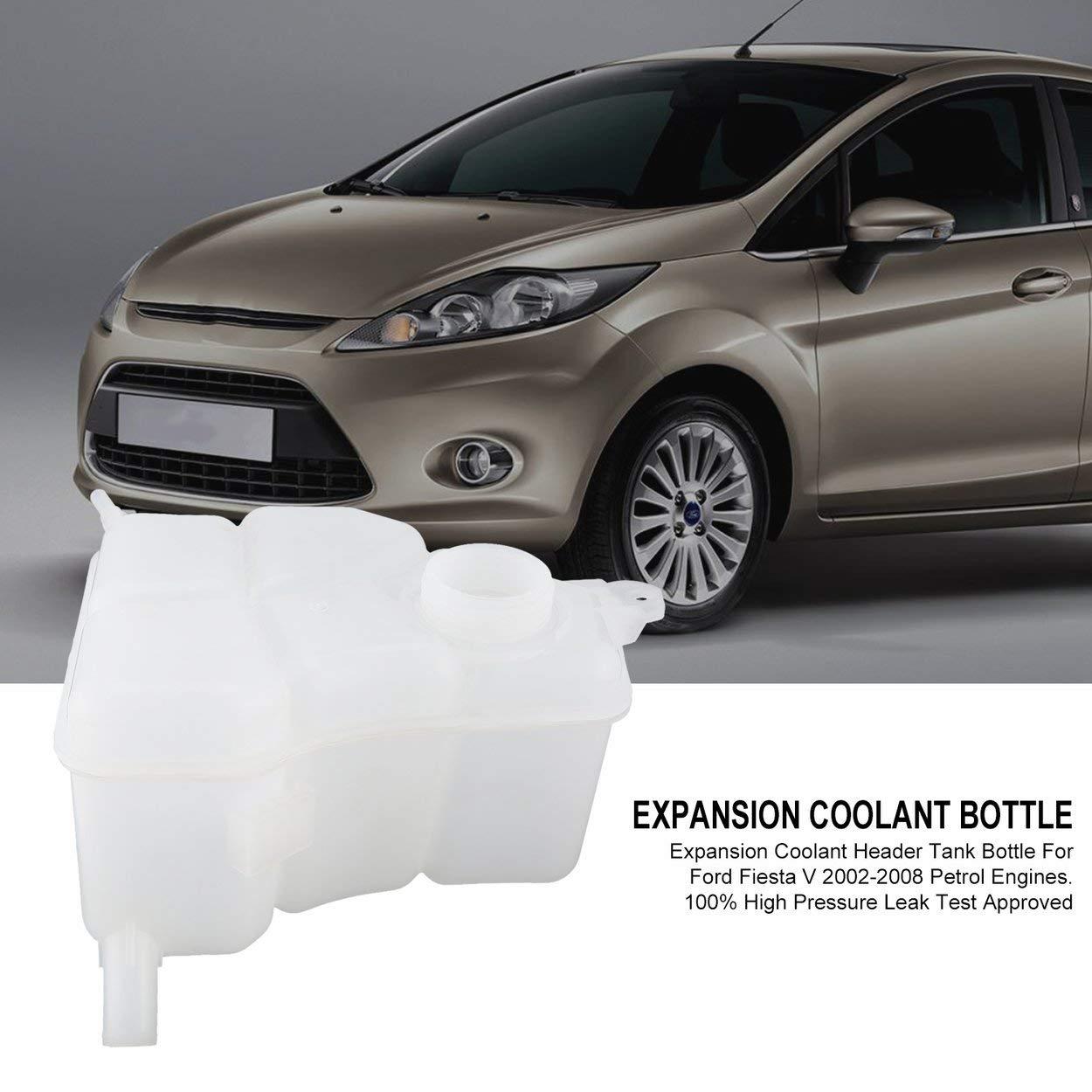 Lorenlli Expansi/ón del Coche Botella de Tanque de Agua del refrigerante para Ford Fiesta V 2002-2008 Motores de Gasolina 1221362 1141512 2s6h-8k218