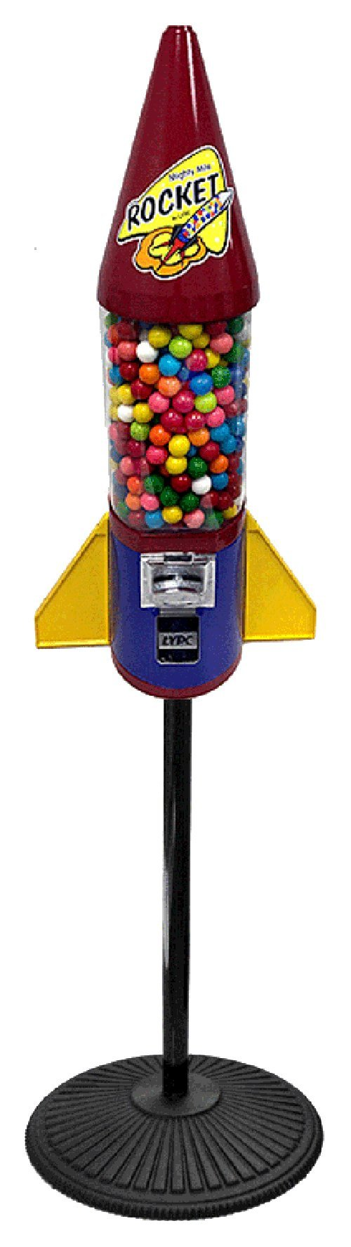 Fiesta Mighty Mite Rocket Gumball Machine with Stand