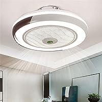 Ventilador De Techo Con Iluminación LED Luz, Creativo Regulable Moderna Con Mando A…