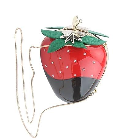 Women Acrylic Pink Strawberry Evening Bags Purses Clutch Vintage Banquet  Handbag  Amazon.co.uk  Luggage 754ce2d91e8f5