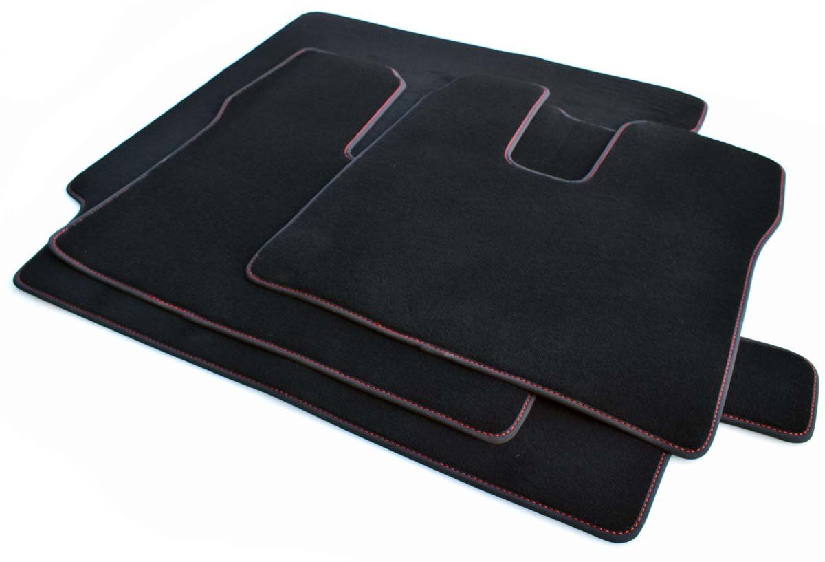 Blaue Ziernaht Autoteppich Tuning Zubehör 2-teilig NEU LKW Fußmatten MAN TGX