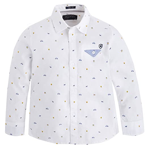 92d4641bf5aa Amazon.com  Mayoral Boy s Patterned Shirt