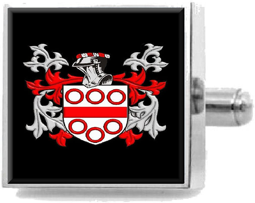 Select Gifts Lucas Ireland Heraldry Crest Sterling Silver Cufflinks Engraved Message Box
