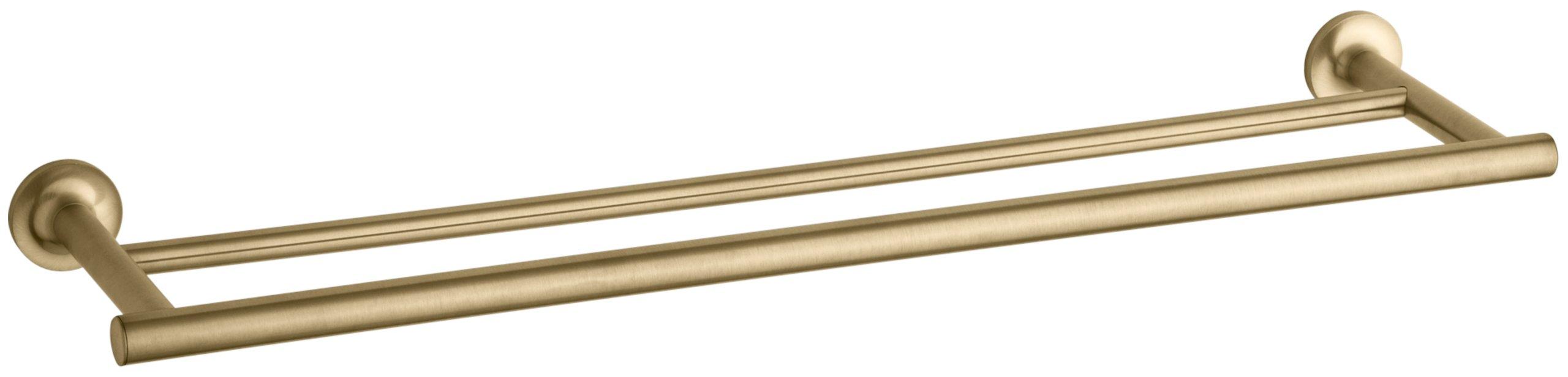 KOHLER K-14375-BGD Purist 24-Inch  Double Towel Bar, Vibrant Moderne Brushed Gold