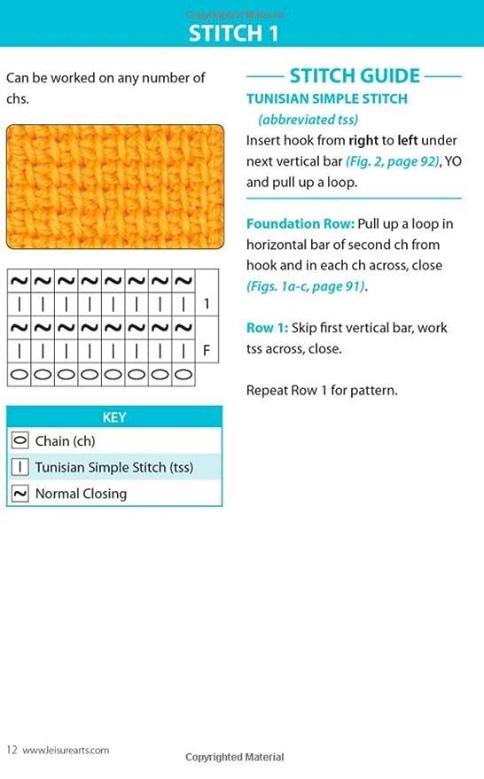 Leisure Arts-Tunisian Crochet Stitch Guide: Kim Guzman: Amazon.de ...