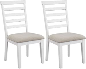 Signature Design by Ashley Gardomi dining-chair, White/Light Brown