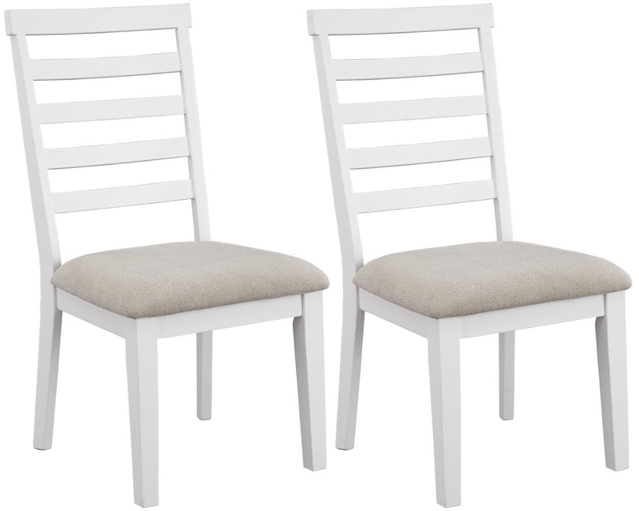 Signature Design by Ashley D632-01 Gardomi Dining-Chair White/Light Brown