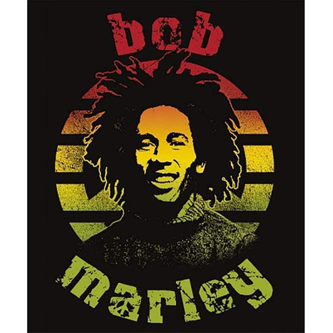 JUST FUNKY Bob Marley Face Blanket BOB-BL-4760-JFC