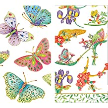Caspari Hankies Pocket or Purse Tissue Packets (6 Pack, Jeweled Butterflies, Parvaneh's Shoes)