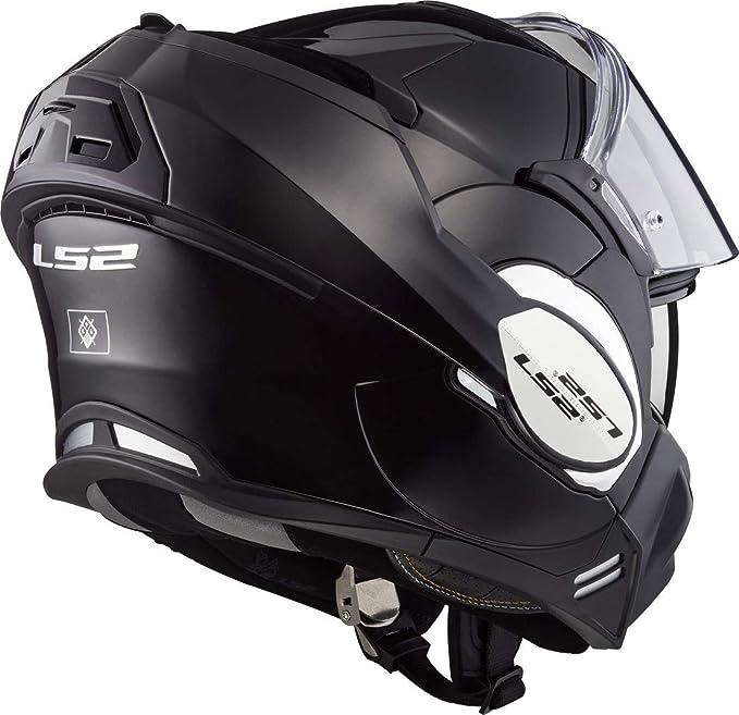 LS2 ff399 Valiant Individual Monocromático Mentonera Deslizante Casco de MOTO - Negro, XX-Large: Amazon.es: Coche y moto