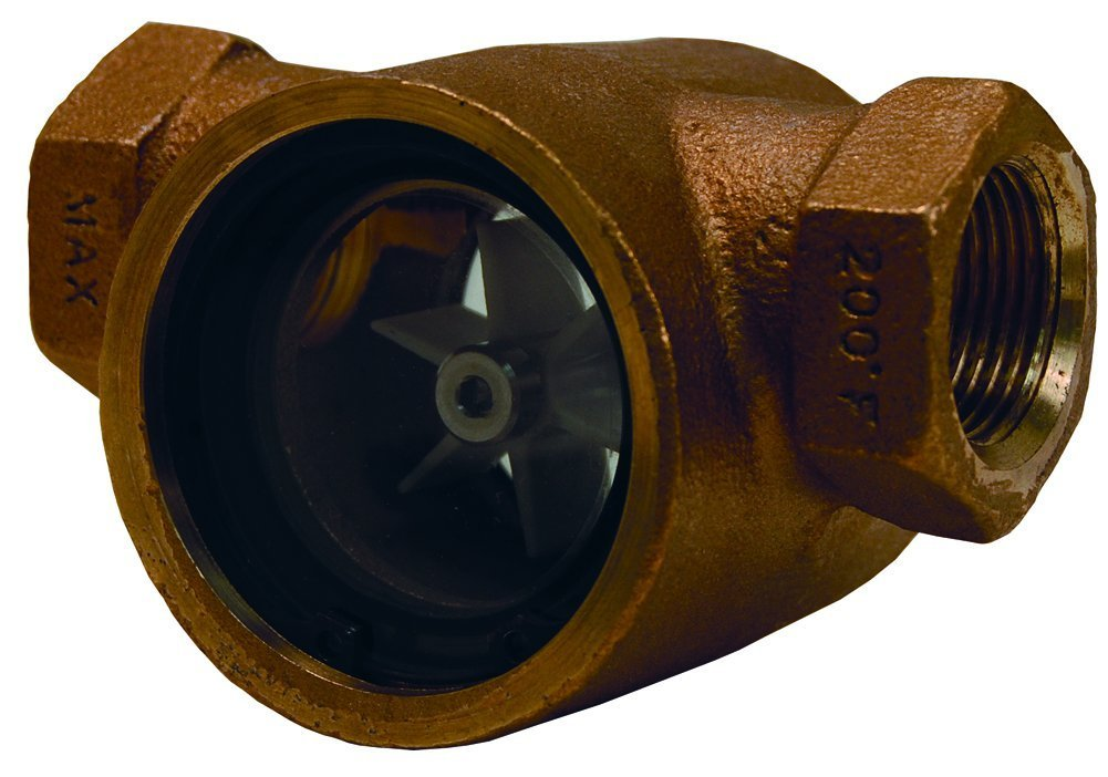 Dixon SF1631-075 Bronze Pipe and Welding Fitting, Sight Flow Indicator, 3/4'' NPT Female