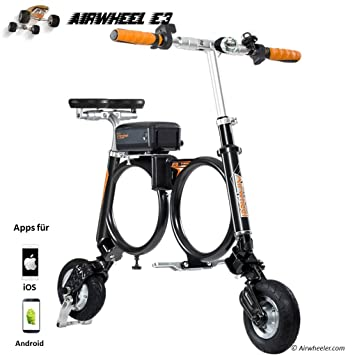 Airwheel Patinete eléctrico Plegable para Hombre E3, Talla M, Hombre, E3, Negro