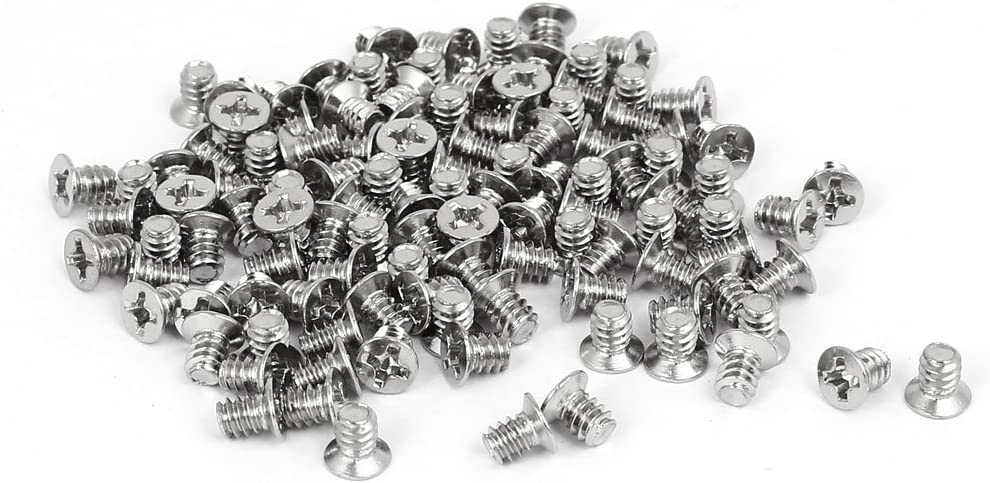 Maxmoral 100pcs Toothed Hex 6//32 SCREW 6-32 Computer PC Case Hard Drive Mot...