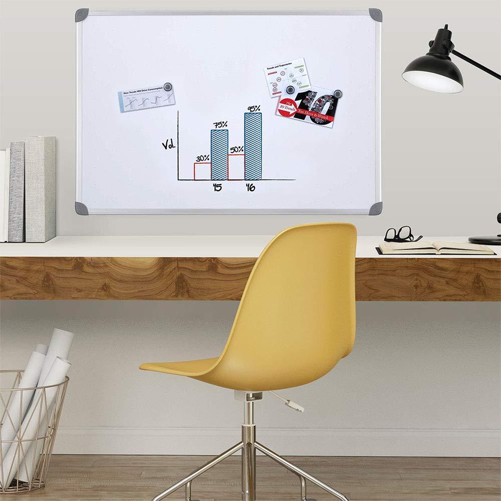 Quartet Magnetic Whiteboard, 2 x 3 White Board, Dry Erase Board, Euro Style Frame (UKTE2436-ECR)
