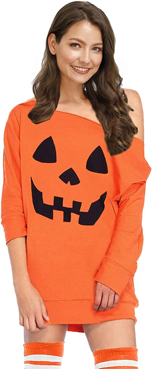 For G and PL Women's Halloween Off Shoulder 3/4 Sleeve Tops at  Women's Clothing store