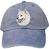 Cherrybrook Dog Breed Embroidered Adams Cotton Twill Caps - Royal Blue - Japanese Spitz