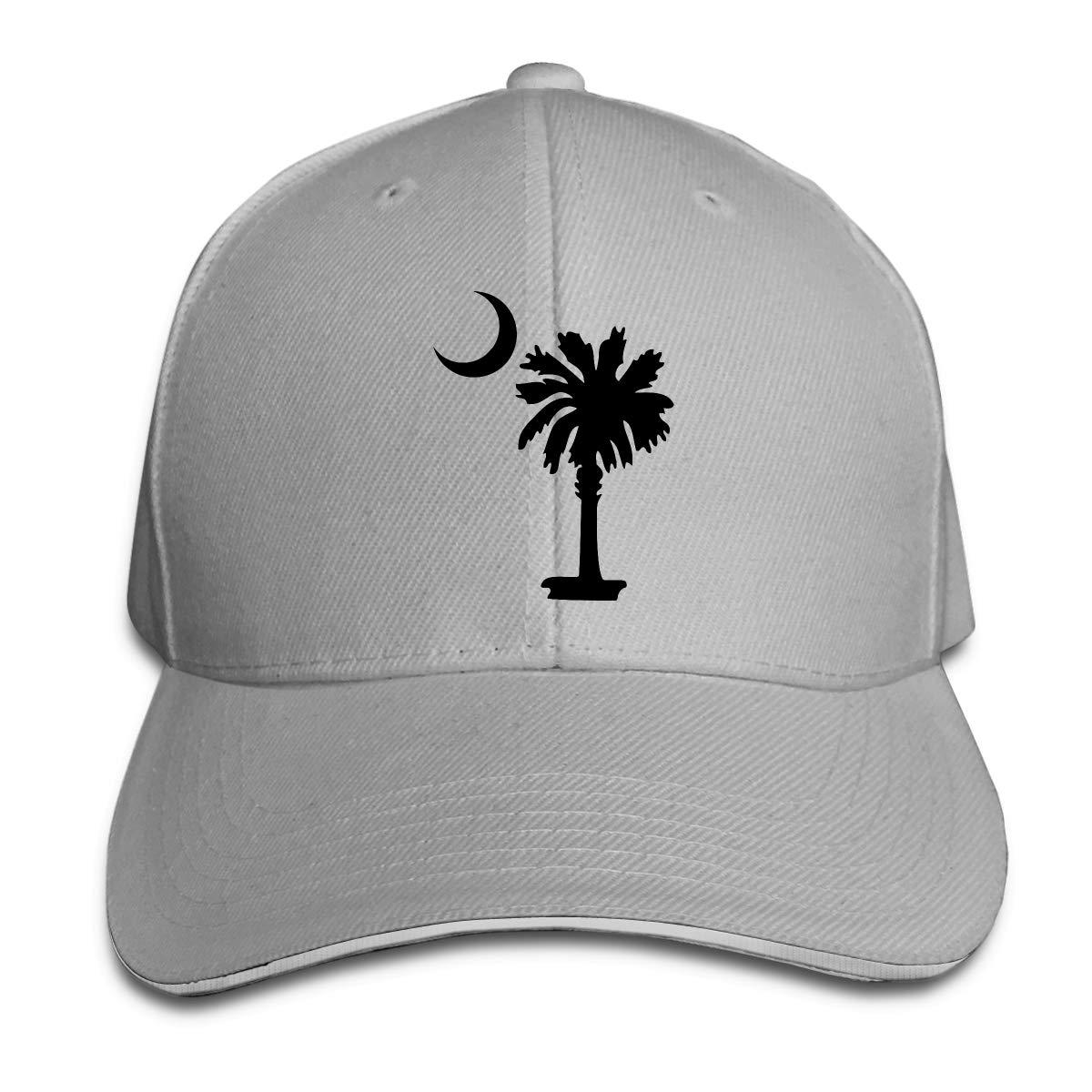 South Carolina State Flag Logo Classic Adjustable Cotton Baseball Caps Trucker Driver Hat Outdoor Cap Gray