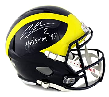 Charles Woodson Signed Michigan Wolverines Riddell Full Size Speed Helmet  with quot Heisman 97 quot  Inscription cf0c4bfb7