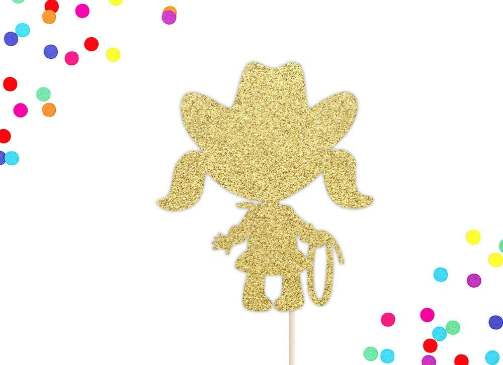 Cowgirl Cake Topper Birthday Cake Topper Cowgirl Party Decor Howdy Gorgeous Cake Topper Gold Glitter Birthday Topper Western Birthday