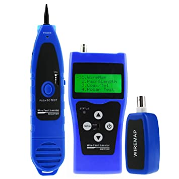 DANOPLUS Red Cable Longitud Ensayador BNC Cable Error Detector Teléfono RJ11 Coaxial Cable Ensayador USB Wire