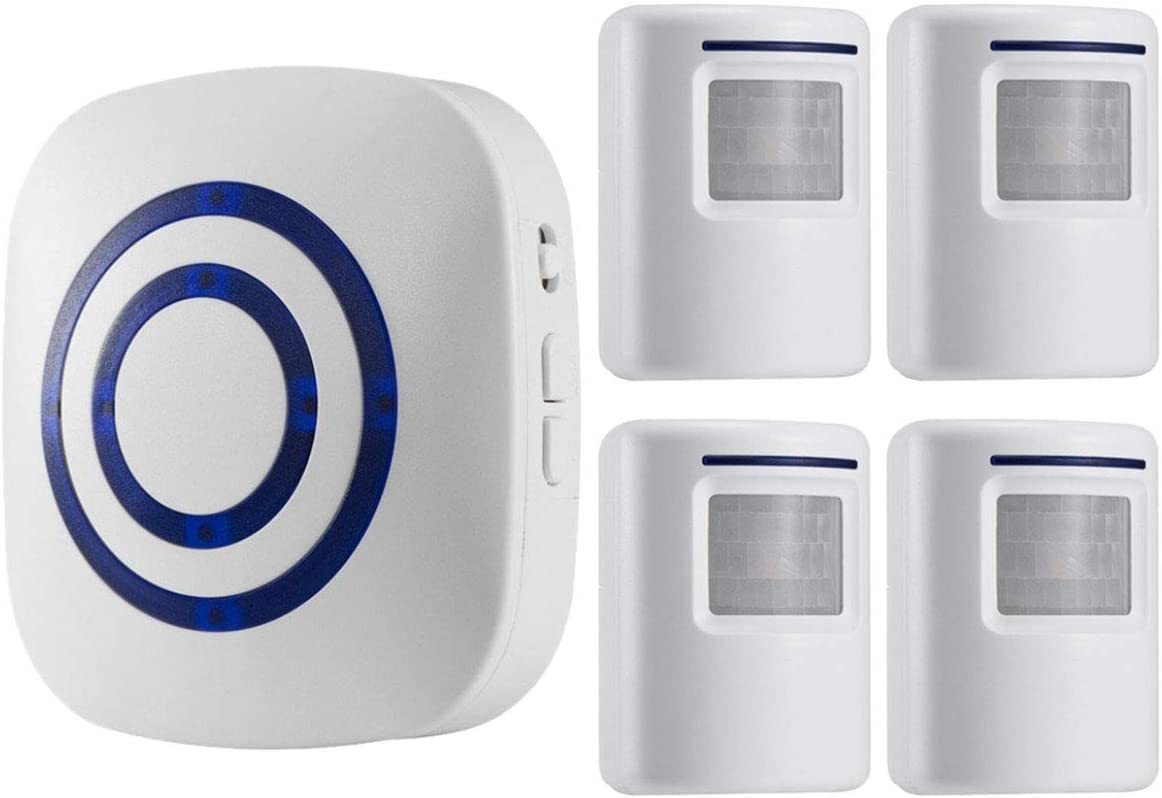 Seanme Motion Sensor Alarm, Wireless Driveway Alarm, Home Security Business  Detect Alert with 4 Sensor and 1 Receiver,38 Chime Tunes - LED Indicators:  Amazon.in: Home Improvement