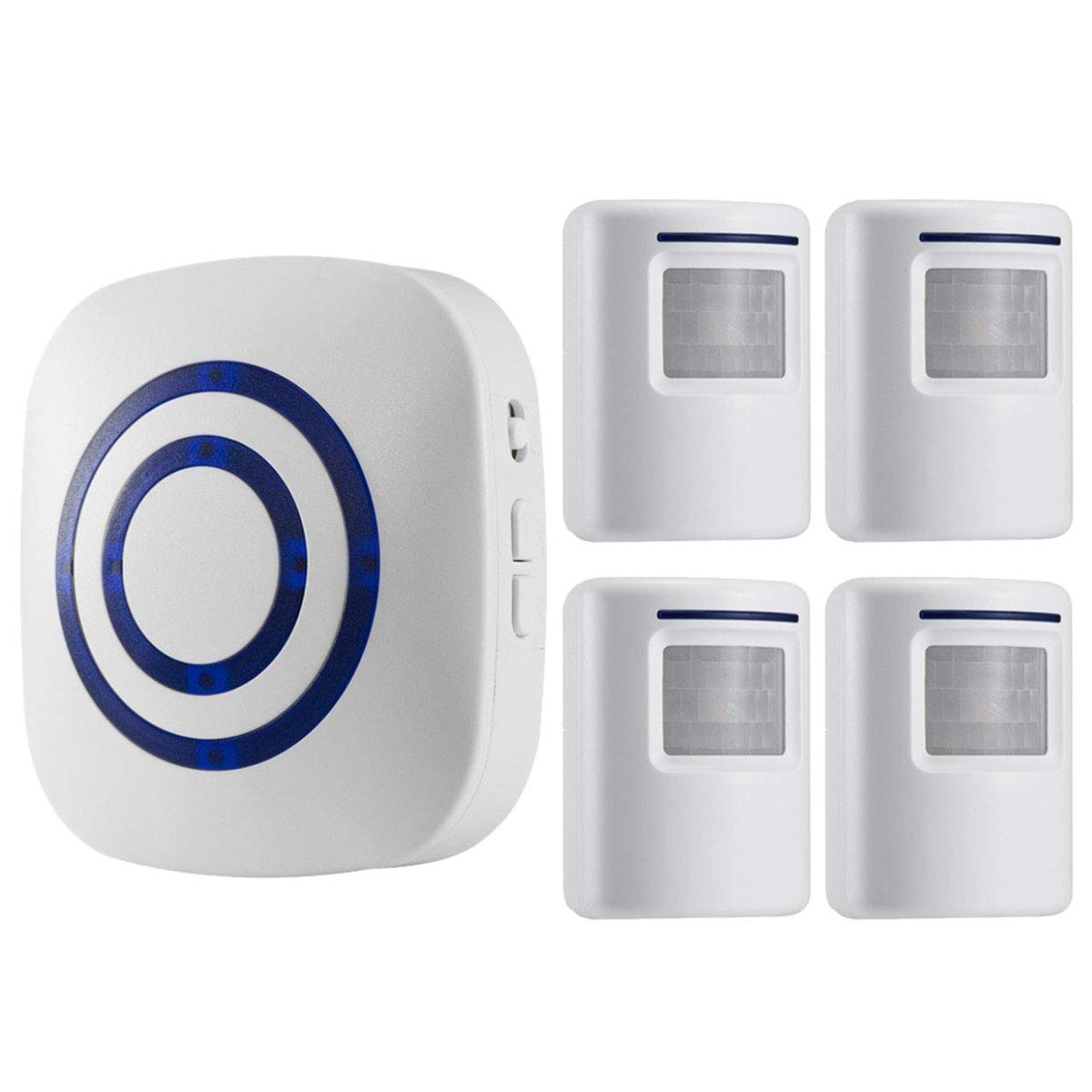 Seanme Motion Sensor Alarm, Wireless Driveway Alarm, Home Security Business  Detect Alert with 4 Sensor and 1 Receiver,38 Chime Tunes - LED Indicators :  Amazon.in: Home Improvement