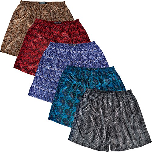 Silk Boxer Shorts For Men - 9