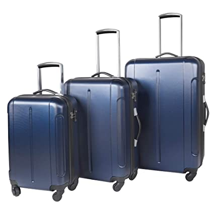 91202f67d17f Vesgantti 3 Piece Suitcase Luggage Set with TSA Lock- Anti-Scratch  Lightweight 4 Wheel Hard Shell Travel Tripp Spinner Case (20/24/28 Inch,  Navy Blue)