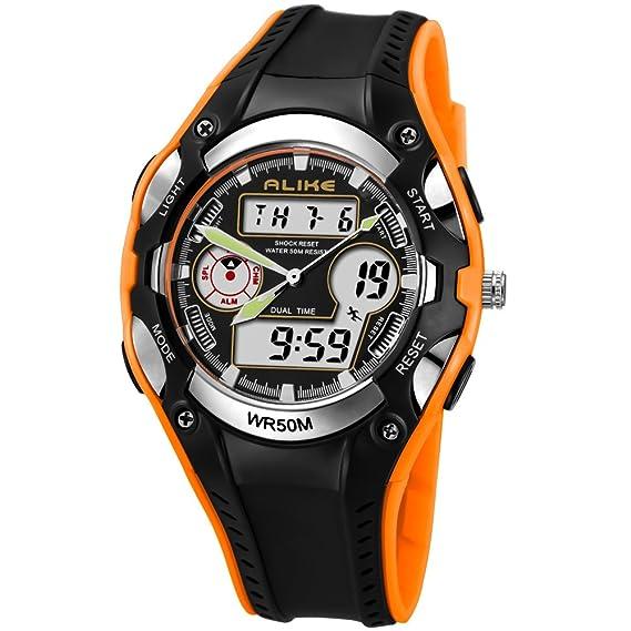 Qingmei Relojes para niños Relojes de pulsera para niñas Pantalla analógica y digital de alta Quanlity