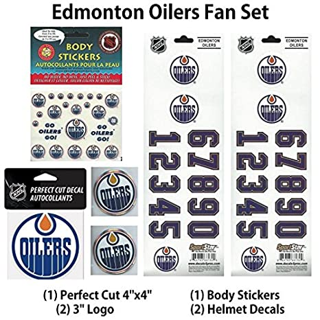 Edmonton oilers nhl team fan set of decals and stickers see pic