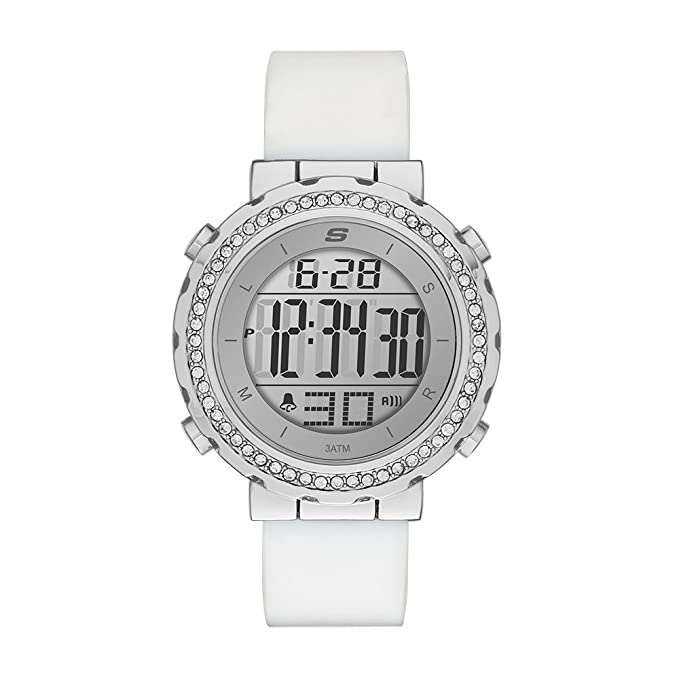 Amazon.com: Skechers Womens Faymont Quartz Metal and Silicone Digital Watch Color: White (Model: SR6015): Watches