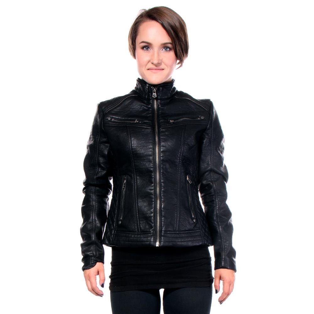 Black Water PU Leather Jacket By Affliction M