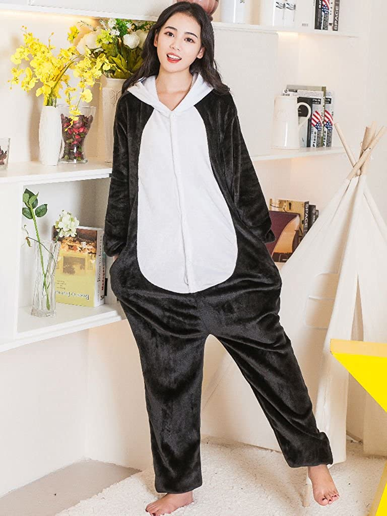 Amazon.com: QQonsie Adult Pajama Panda Onesie Christmas Costume for Men Women Animal Onsie: Clothing