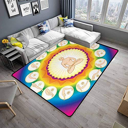 Yoga,Office Chair Floor Mat Foot Pad 48