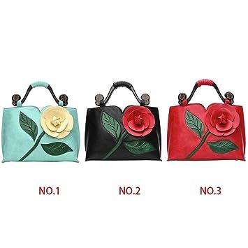 b34231667f4a7 Holz Rose Stereo Lady Handtasche Vintage Frauen Mädchen PU Leder Weibliche  Totes Tasche Blume Geldbörse Brieftasche