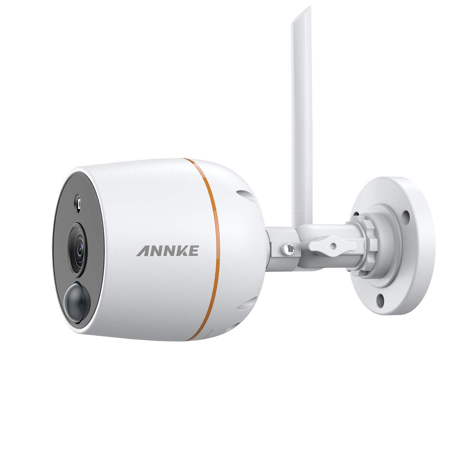 ANNKE 1080P Full HD Wireless Security IP Camera, Smart IR Night Vision, Plug and Play, PIR Motion Detection, Two-Way Audio, APP Alarm Push, Remote Access, IP66 Surveillance Bullet WiFi Camera