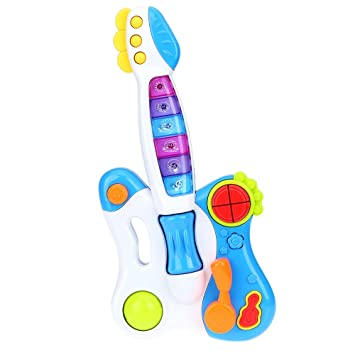 Goolsky Juguete de Guitarra Musical Juguete para Bebé Niños con Luces Flashing Juguetes Educativos Inteligencia