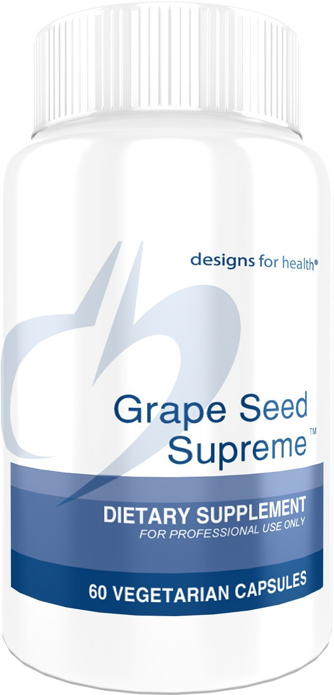 Designs for Health Grape Seed Supreme - 200mg Grape Seed Extract + Muscadine Grape (60 Capsules)