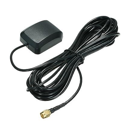 KKmoon Coche GPS Antena SMA Antena Aéreo Conector Cable para Coche ...