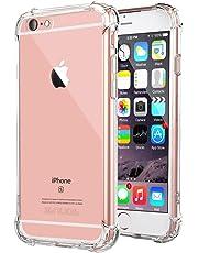"""Coque iPhone 6 / 6S, Jenuos Transparent Doux Souple Extrêmement Fin Housse TPU Silicone Etui pour iPhone 6/6S 4.7""""- Transparent"""